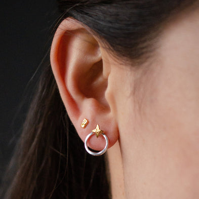 Astral Two-Way Loop Star Earrings