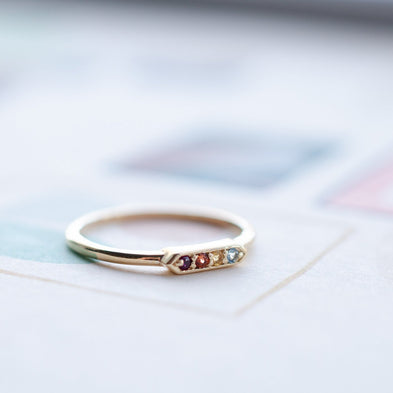 Gold Dust 9ct Birthstone Ring