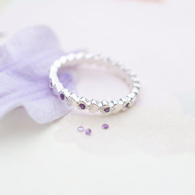 Full Birthstone Always Forever Eternity Ring