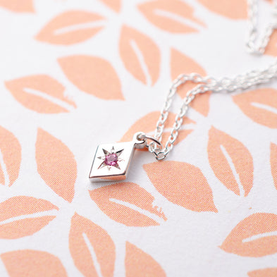 Kite Confetti Birthstone Necklace