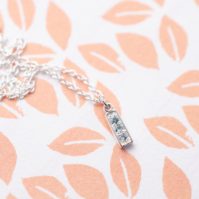 Bar Confetti Birthstone Necklace