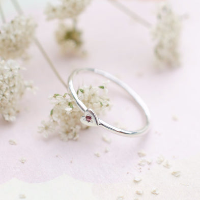 Birthstone Shot Through The Heart Ring