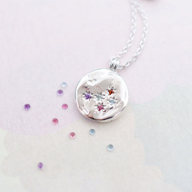Constellation Birthstone Disco Inferno Necklace