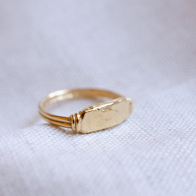 Personalised Moon River Signet Ring