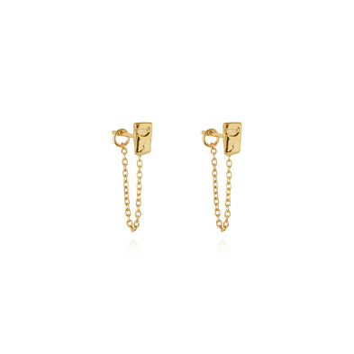 Little Light Chain Stud Earrings