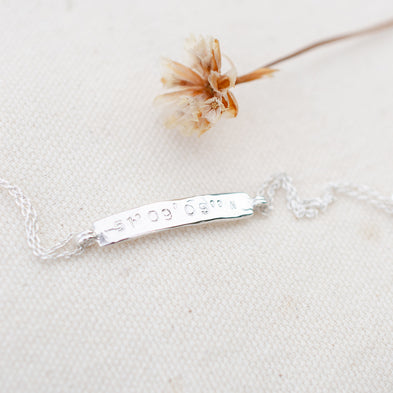 Personalised Moon River Bar Bracelet