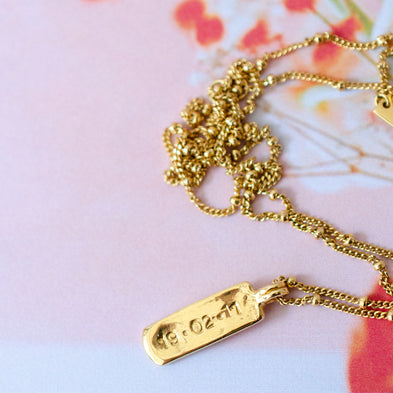 Personalised Moon River Bar Necklace