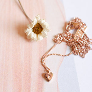 Buff jewellery tiny heart necklace