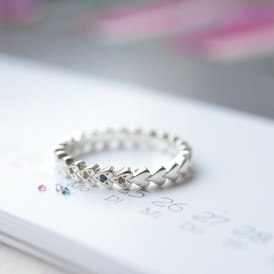 Birthstone Always Forever Eternity Ring