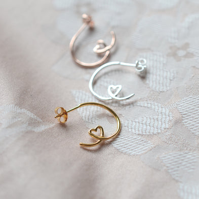 Shape Of My Heart Hoop Earrings