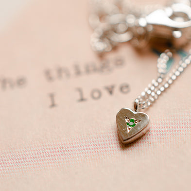 Birthstone This Little Heart Of Mine Necklace