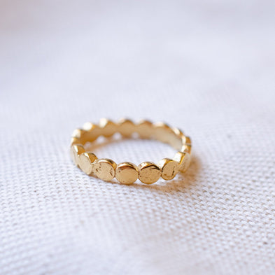Moon Dance Circle Eternity Ring