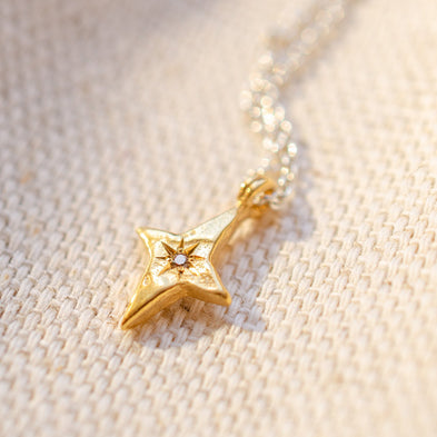 Birthstone Wandering Star Necklace