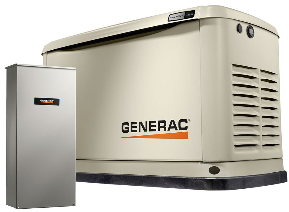 Generac Guardian 13kW Home Backup Generator with 16-circuit Transfer Switch WiFi-Enabled Model #7174