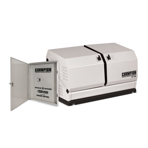 Champion 14-kW Home Standby Generator with 200-Amp Whole House Switch with Demand Control Model #100294 (discontinued - a new 200amp ATS model coming soon)