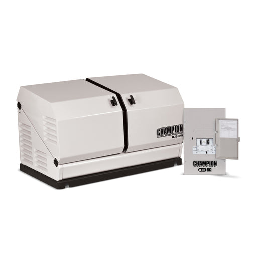Champion 8.5-kW Home Standby Generator with 50-Amp Indoor Switch NEMA 1 Model #100174 (not for CA)