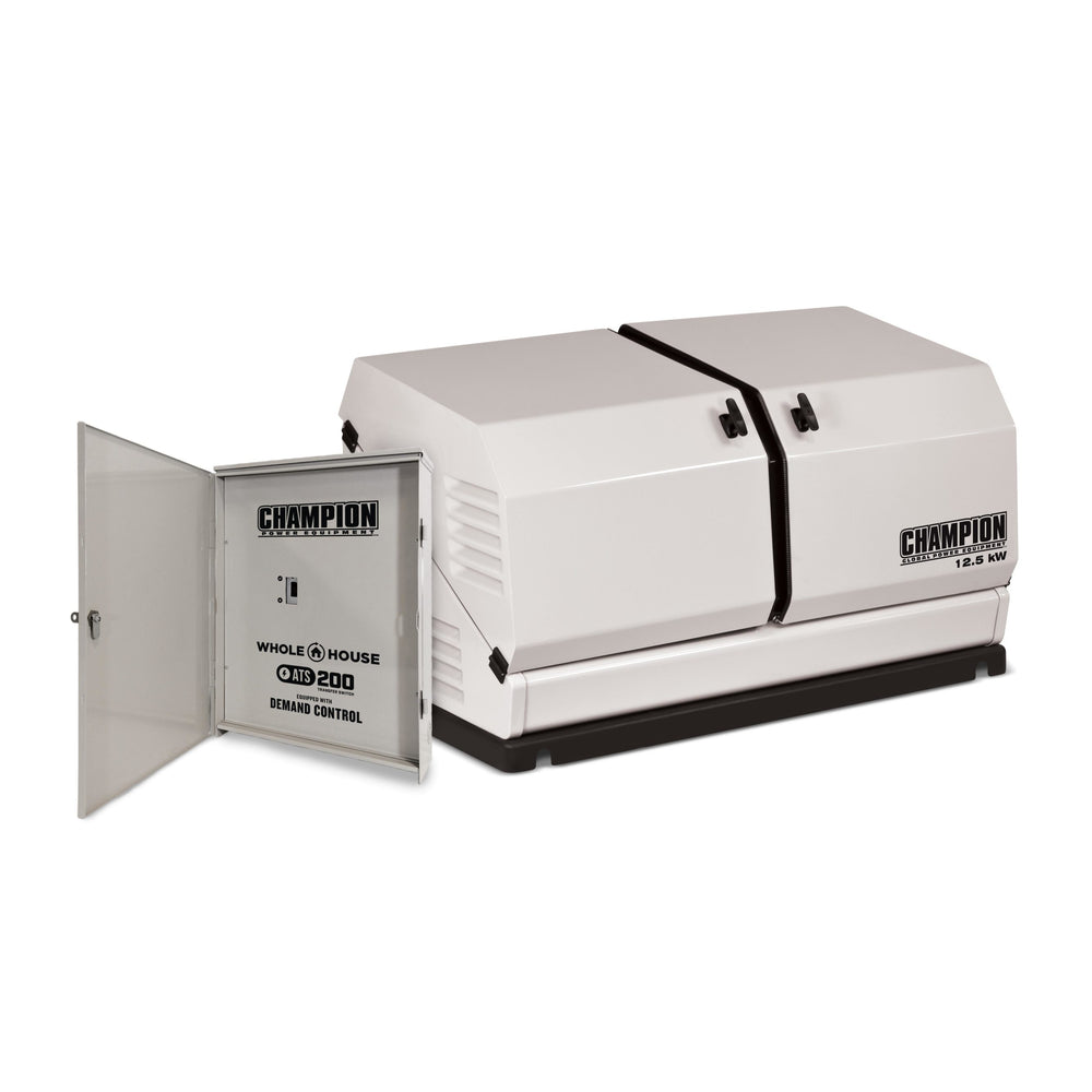 Champion 12.5-kW Home Standby Generator with 200-Amp Whole House Switch with Demand Control Model #100291 (discontinued - a new 200amp ATS model coming soon)