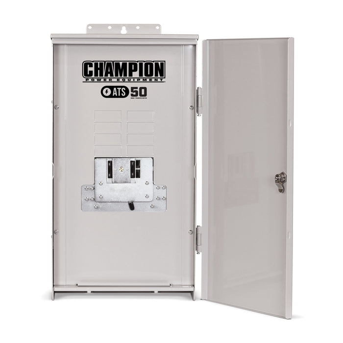 Champion 8.5-kW Home Standby Generator with 50-Amp Outdoor Switch NEMA 3R Model #100177
