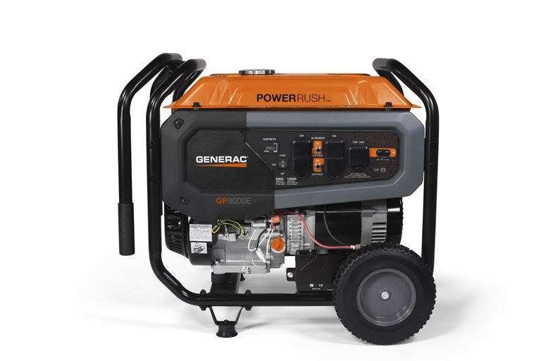 Generac GP8000E - 8000 Watt Electric Start Portable Generator (CARB) #7676