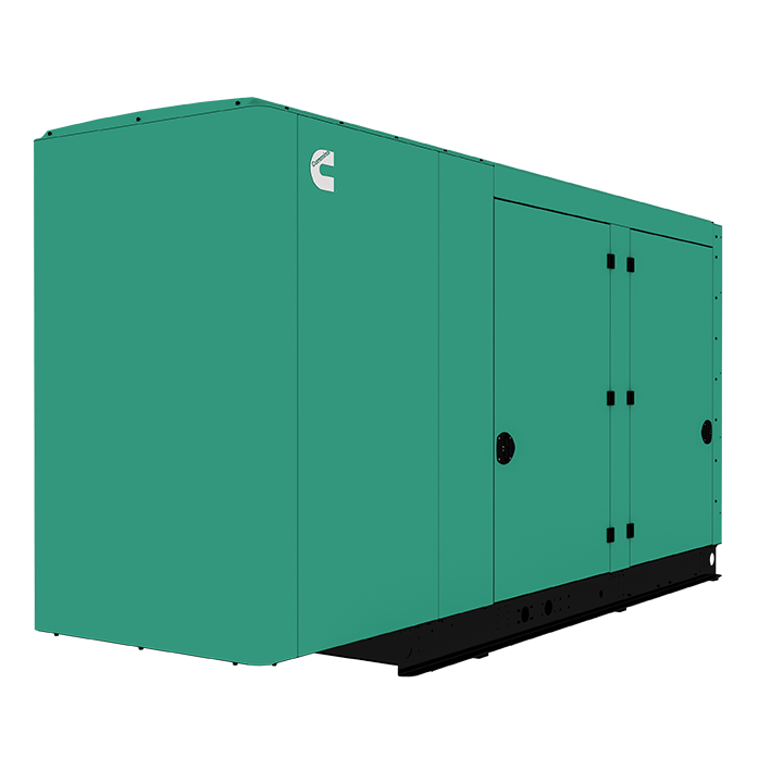 Cummins Power Quiet Connect 125kW Natural Gas Liquid Cooled Standby Generator Three Phase RS125