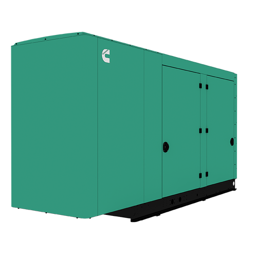 Cummins Power Quiet Connect 150kW Natural Gas Liquid Cooled Standby Generator Single Phase RS150