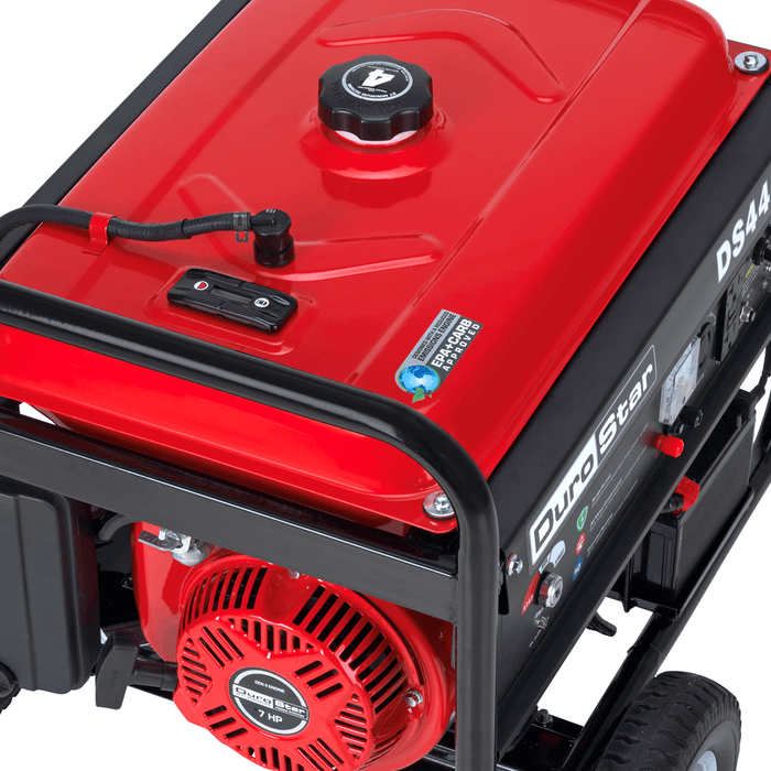 DuroStar DS4400E 4400-Watt 7-Hp Air Cooled OHV Gas Generator w/ Electric Start and Wheel Kit