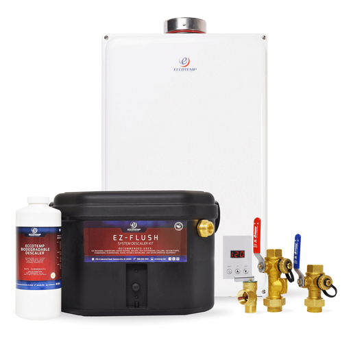 Eccotemp 45HI Indoor 6.8 GPM Natural Gas Tankless Water Heater Service Kit Bundle