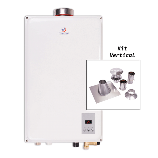 Eccotemp 45HI Indoor 6.8 GPM Natural Gas Tankless Water Heater Vertical Bundle