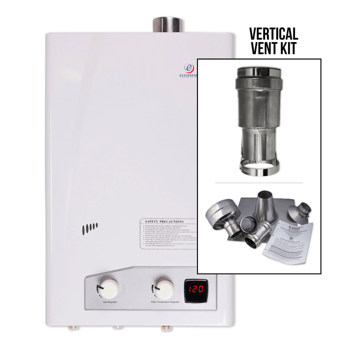 Eccotemp FVI12 Indoor 4.0 GPM Liquid Propane Tankless Water Heater Vertical Bundle