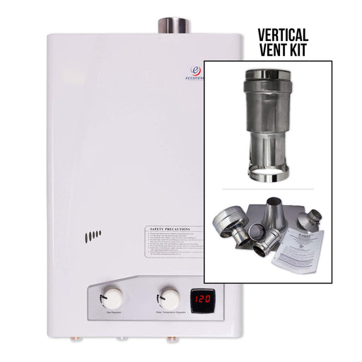 Eccotemp FVI12 Indoor 4.0 GPM Natural Gas Tankless Water Heater Vertical Bundle