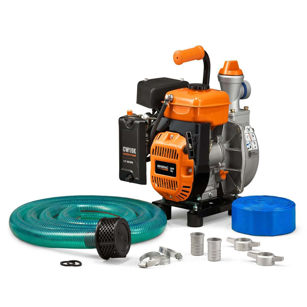 "Generac 1.5"" Clean Water Pump with Hose Kit #6821"