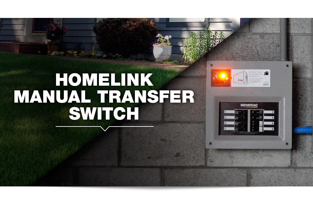Generac HomeLink Upgradeable 30 Amp Manual Transfer Switch #6852