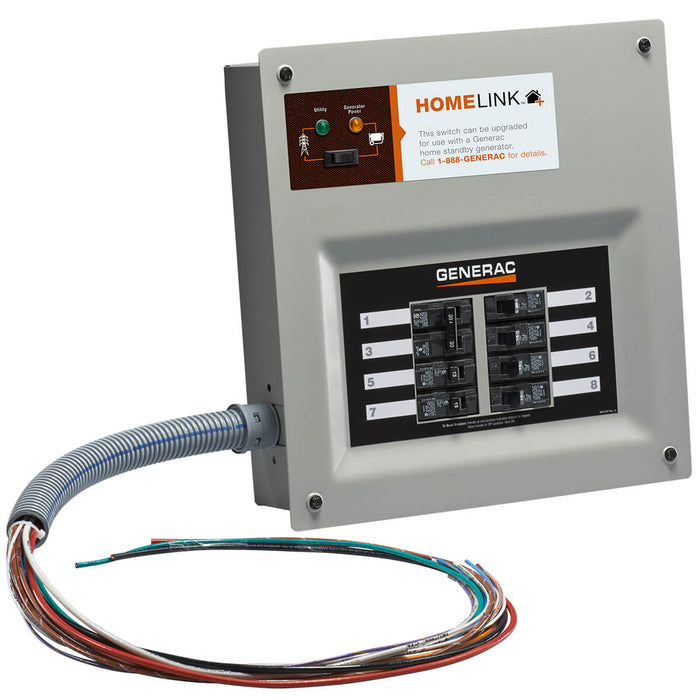 Generac Homelink Upgradeable 30 Amp Manual Transfer Switch #6853