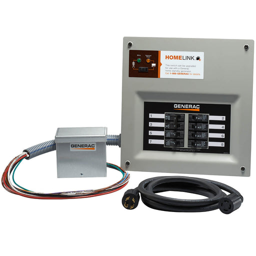 Generac HomeLink Upgradeable 30 Amp Manual Transfer Switch with Aluminum Power Inlet Box #6854