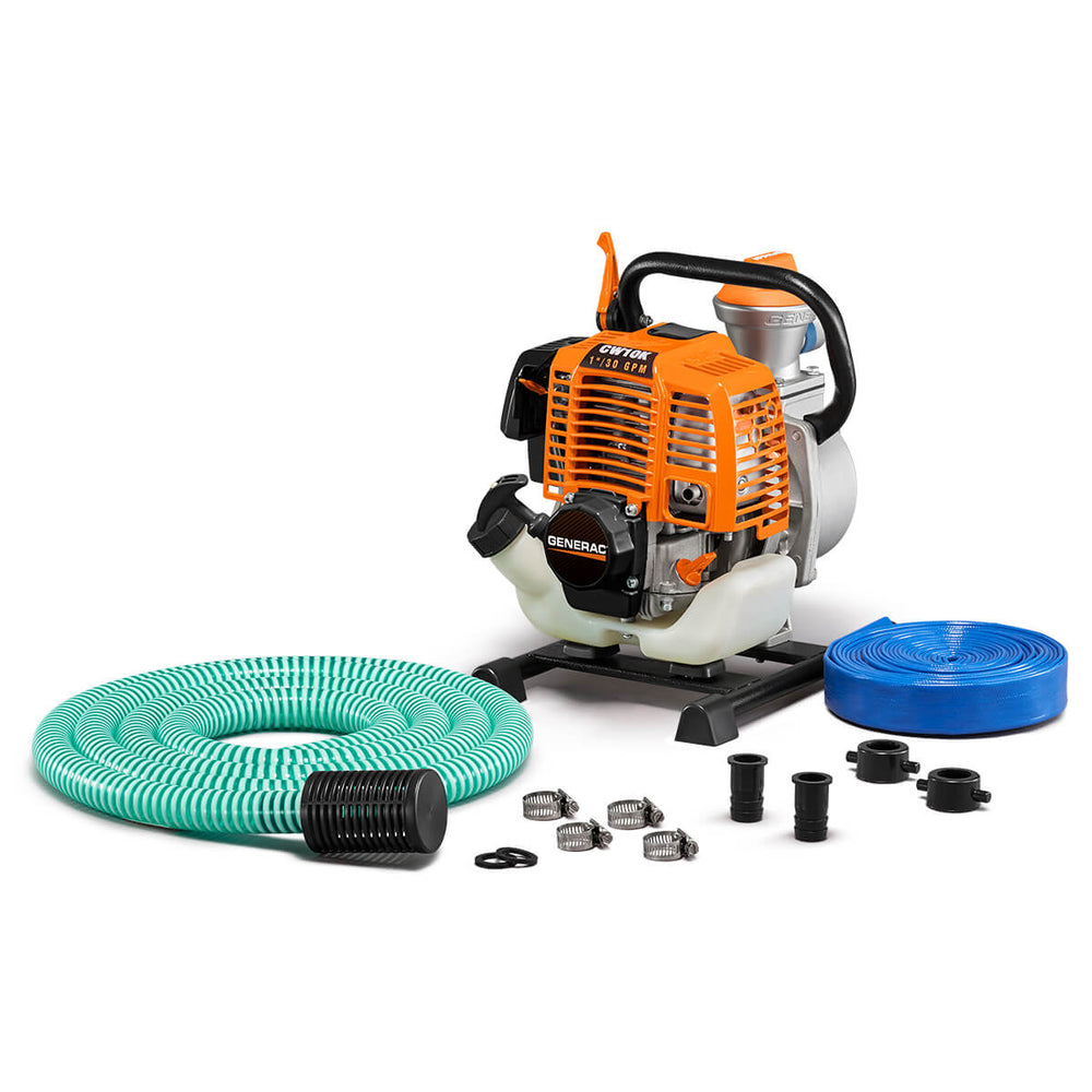 Generac 1'' Clean Water Pump with Hose Kit #6917
