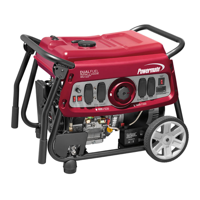 Powermate 7500 Watt Dual Fuel Electric Start Portable Generator #6958