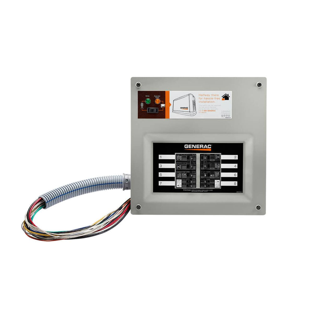 Generac 50 Amp Indoor Transfer Switch Kt for 10-16 circ, Stand-alone, Upgradeable #9854