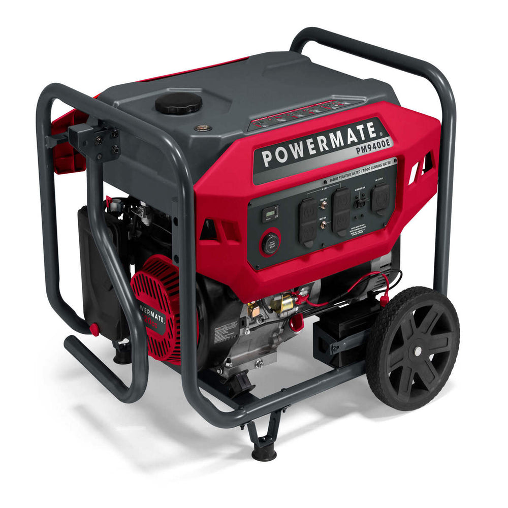 Powermate PM9400E - 9,400 Watt Electric Start Portable Generator, CSA #P0080300