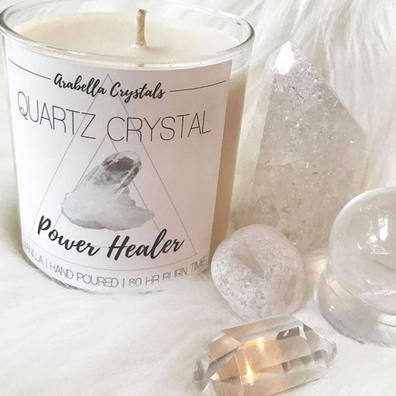 Quartz Crystal Candles - Curiosities and oddities, home decor and accents, taxidermy, wall art, skull and bone
