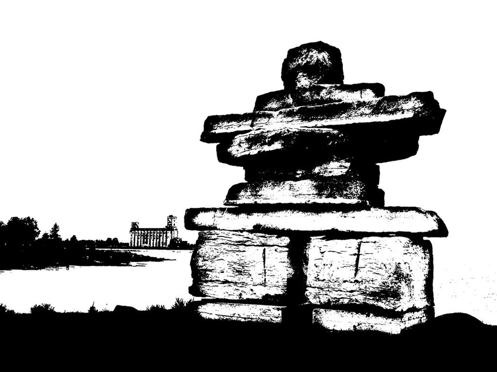 Black and White Inuksuk