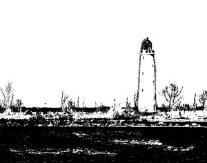 Blackand White Lighthouse