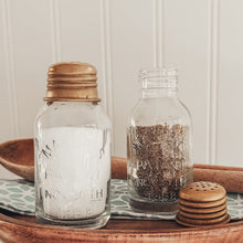Load image into Gallery viewer, Mini Mason Salt and Pepper Shakers | INSPO INCLUDED! - Cottage and Thistle