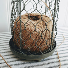 Load image into Gallery viewer, Chicken Wire Cloche with Jute Twine - Cottage and Thistle