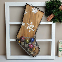 Load image into Gallery viewer, Cookie Cutter Inspired Vintage Christmas Stocking Basket