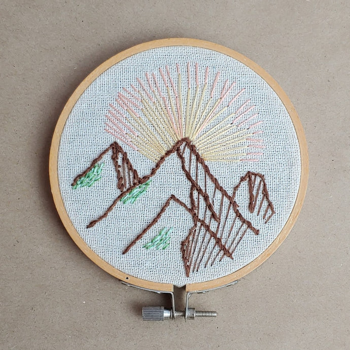 Mountain Sunrise - Embroidery - Cottage and Thistle