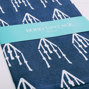 Temple Blue Tea Towels - Cottage and Thistle