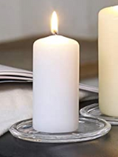 Load image into Gallery viewer, White Pillar Candle 2x4 inch - Unscented/Dripless - Cottage and Thistle