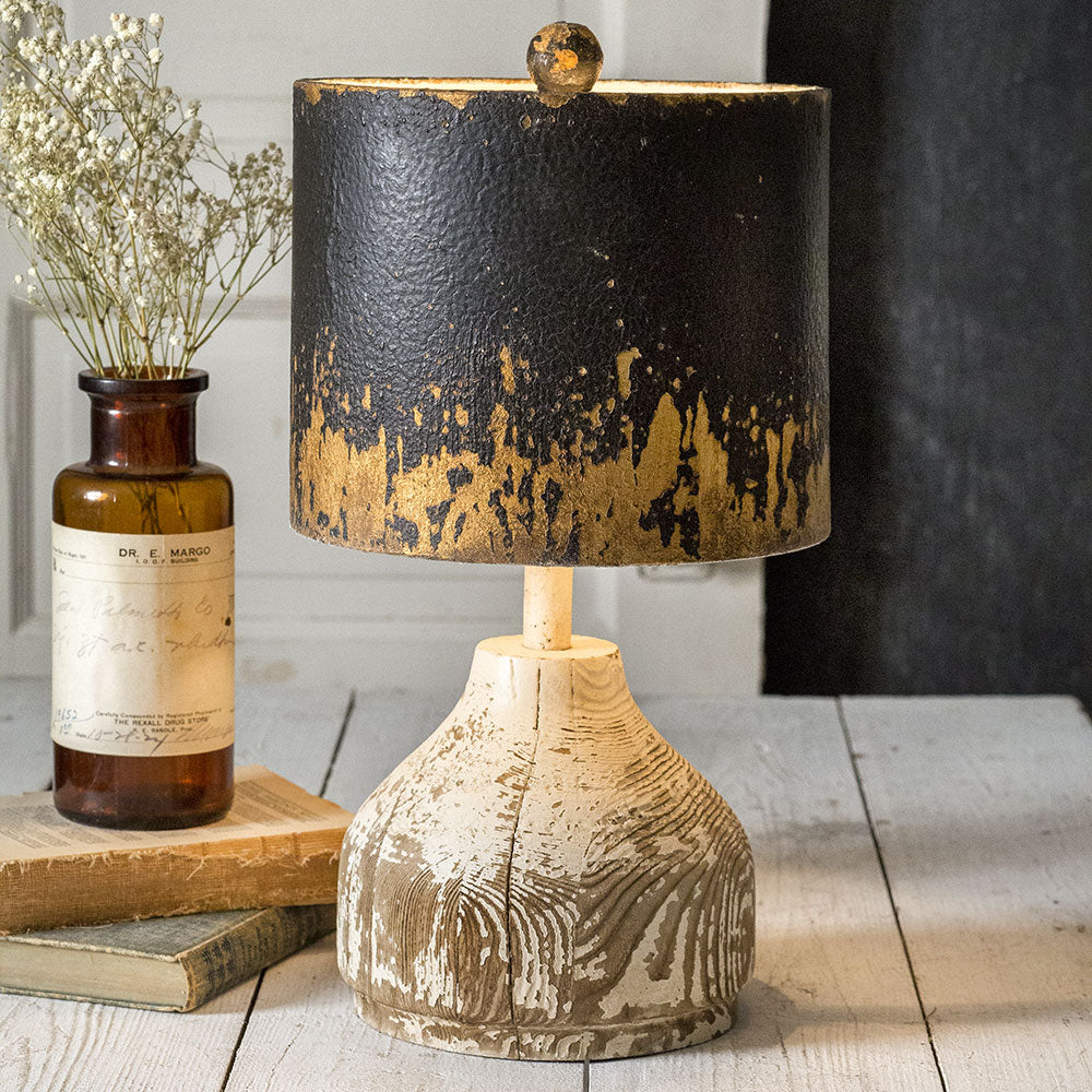 Distressed Captain's Lamp - Cottage and Thistle