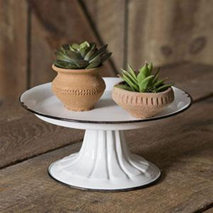 Pedestal Stand with Black Trim - Cottage and Thistle