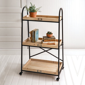 Lehigh Three-Tier Standing Shelf - Cottage and Thistle